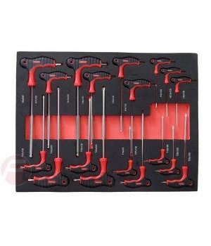 Набор ключей Т-образных FK-K51812 FORCEKRAFT (18 предметов)