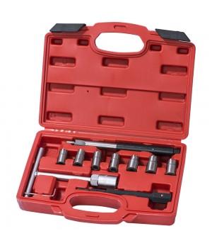 Набор для притирки седел форсунок дизельного ДВС (10 предметов)