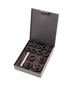 Набор головок экстракторов для поврежденных болтов, гаек 9-27 мм (15 предметов)