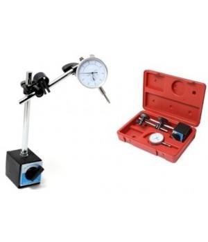 Индикатор часового типа с магнитной стойкой Partner PA-01729 (0-10 мм, погрешность-0,01 мм), в кейсе