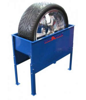 Металлическая ванна для проверки колес вертикальная